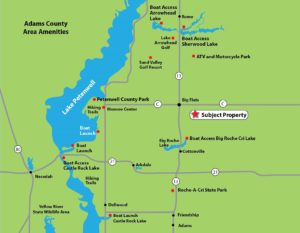 Petenwell Lake Area, 9.5 Wooded Wisconsin Acres